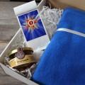 Корпоративный подарок 9 мая набор с пледом