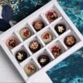 Подарок Набор шоколадных конфет ручной работы 12 шт, женский