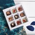 Подарок Набор шоколадных конфет ручной работы 9 шт, женский