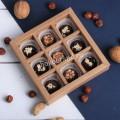Набор шоколадных конфет ручной работы 9 шт, крафт