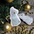 Корпоративный подарок Деревянная открытка с имбирным печеньем