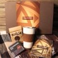 Корпоративный подарок Кофейный с пледом