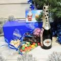 Корпоративный подарок Сладости и шампанское