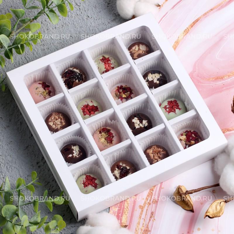 Набор шоколадных конфет ручной работы 16 шт
