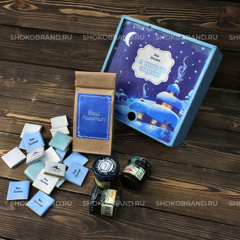 Корпоративный подарок Чайный набор в деревянной коробке
