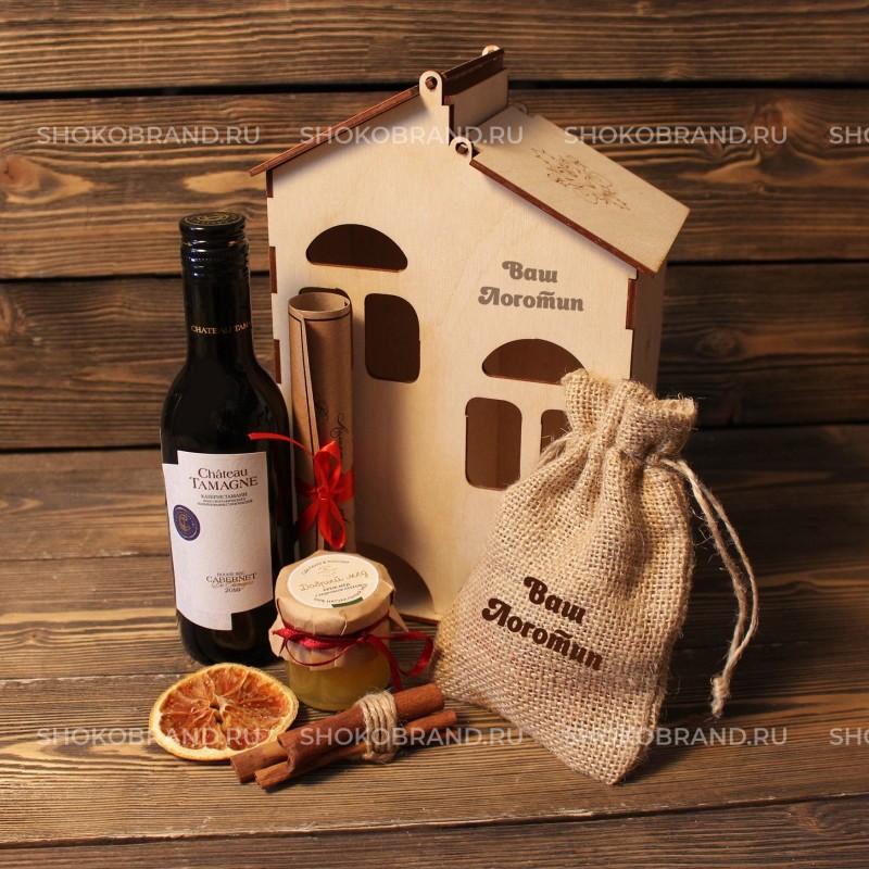 Корпоративный подарок Глинтвейн в деревянном домике