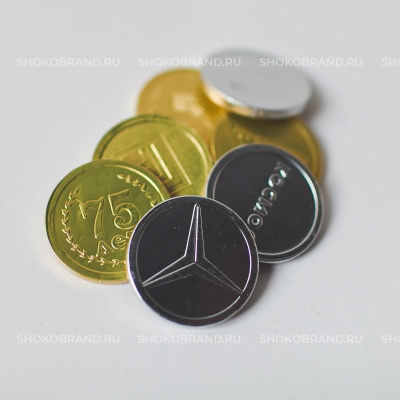 Корпоративный подарок Шоколадные монеты 6 гр
