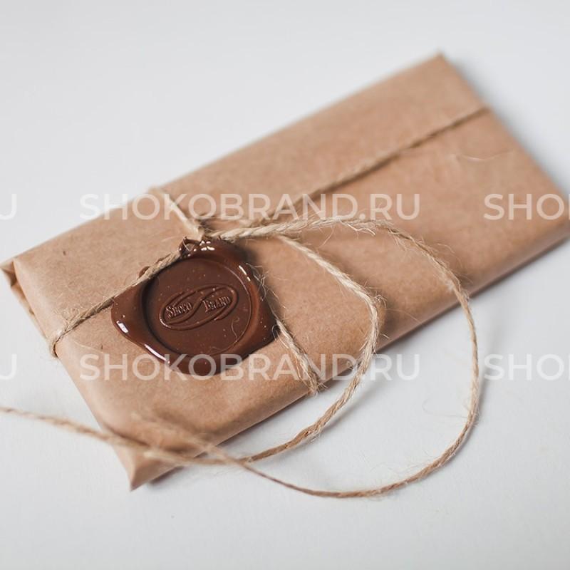 Шоколадная плитка с сургучной печатью